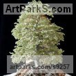 700 Peridot Gemstones, twisted Wire, wood Foliage Leaves Carvings sculpture sculpture by sculptor Alarik Greenland titled: 'Castles Beech (Minatuere Jewelled Tree sculpture)' - Artwork View 1