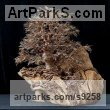 10,000 empty twig ends, twisted Wire and wood Tree Plant Shrub Bonsai sculpture statue statuette sculpture by Alarik Greenland titled: 'Dartington Tree (Little in Winter Art statuettes)'
