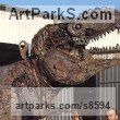 Recycled Metal Dragons sculpture by Andrew Minevski titled: 'T-Rex (Large Prehistoric Monster garden or Park statue)'