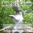 Bronze Resin Garden Or Yard / Outside and Outdoor sculpture by sculptor Andrew MacCallum titled: 'Morning (nude Girl Young female Torso sculptures)' - Artwork View 1