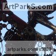 Recycled metal Fabricated Metal Abstract sculpture by sculptor Andrew Minevski titled: 'Pteranodom (abstract Prehistoric Monster statues)' - Artwork View 5