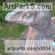 Cement Extinct Animals sculpture by Anthony Bartyla titled: 'Velociraptor Bust'