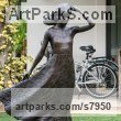 Bronze Garden Or Yard / Outside and Outdoor sculpture by sculptor Anthony Smith titled: 'Girl with Flowing Dress (life size Yard garden statue)' - Artwork View 1