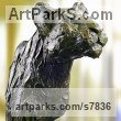 High quality foundry bronze Cats sculpture by sculptor Artist Vya titled: 'Bronze Lion (Bronze Lion sculpturette)' - Artwork View 1