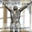 High Quality Foundry Bronze Male Men Youths Masculine sculpturettes figurines sculpture by sculptor Artist Vya titled: 'Diver Plunging statue (Metal Man sculpture bronze)' - Artwork View 3