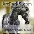 High Quality Foundry Bronze Horse Sculpture / Equines Race Horses Pack HorseCart Horses Plough Horsess sculpture by sculptor Artist Vya titled: 'Equestrian sculpture (Bronze Trotting Horse)' - Artwork View 2