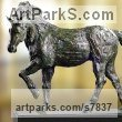 High Quality Foundry Bronze Horse Sculpture / Equines Race Horses Pack HorseCart Horses Plough Horsess sculpture by sculptor Artist Vya titled: 'Equestrian sculpture (Bronze Trotting Horse)' - Artwork View 4