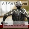 High Quality Foundry Bronze Anger Frustration Rage Fury sculpture sculpture by sculptor Artist Vya titled: 'nude Man 2 (sculpture Bronze sculpturette figurine)' - Artwork View 2