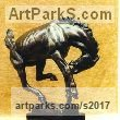 Bronze Horses Small, for Indoors and Inside Display sculpturettes Sculptures figurines commissions commemoratives sculpture by sculptor Beryl Ellis titled: 'Bucking Pony (Equestrian small Bronze sculpture)'