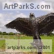 Steel Birds of Prey / Raptors sculpture by sculptor Bob Fuller titled: 'Bald Eagle (Outsize Steel fabricated Big Bird of Prey sculpture/statue)'