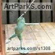 Bronze Garden Or Yard / Outside and Outdoor sculpture by sculptor Brett Davis titled: 'Dancing Frog (Bronze Fountain large sculpture)' - Artwork View 2
