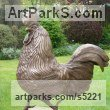 Bronze Resin Domestic Animal sculpture by Brian Hollingworth titled: 'Sunrise Stroller (Life Strutting Cockerel statue)'