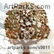 Copper and brass Commemoratives and Memorials sculpture by Bronwen Glazzard titled: 'Love Tree (with a starter pack of 50 engravable leaf plaques)'