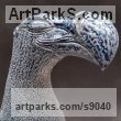 Ceramic Ornamental Birds sculpture or sculpture by sculptor Bruce Hardwick titled: 'Dodo - Blue Salt Glaze (ceramic Amusing Fun statuette)' - Artwork View 4