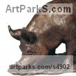 Bronze Farm Yard sculpture by sculptor Camilla Le May titled: 'Lucy, Berkshire Pig (Small Bronze sculpture/statue)'