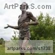 Bronze Portrait Sculptures / Commission or Bespoke or Customised sculpture by sculptor Carl Payne titled: 'Sir Roger Bannister (life size Commemorative Athlete statue)' - Artwork View 1