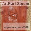 Rose wood Carved Wood sculpture by sculptor Charles Chambata titled: 'Movement of mind (Carved Bas Relief female Plaque)'