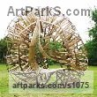 Wood - Green Oak & Ash Modern Abstract Contemporary Avant Garde Sculptures or Statues or statuettes or statuary sculpture by sculptor Charlie Whinney titled: 'Coral Arbour 1 (Large/abstract Wood Laminate garden statue)'