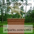 Stone resin Mythical sculpture by sculptor Christa Hunter titled: 'Pegasus'