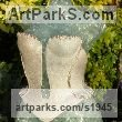 Recycled windscreen glass/ resin Females Women Girls Ladies sculpture statuettes figurines sculpture by sculptor Christine Close titled: 'Baroque (Recycled Glass female Torso in Corset life size garden statue)' - Artwork View 3