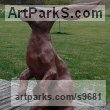 Copper resin Animal Abstract Contemporary Modern Stylised Minimalist sculpture by Christine Close titled: 'Wind in My Hare (Hare Sniffing the Breeze statue)'
