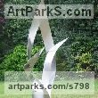 Stainless steel Abstract Modern Contemporary Avant Garde sculpture statuettes figurines statuary both Indoor Or outside sculpture by sculptor Christine Fox titled: 'Times Arrow 1 (abstract Painted stainless Steel garden statue/sculpture)'