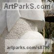 Lipica stone Abstract Contemporary or Modern Outdoor Outside Exterior Garden / Yard sculpture statuary sculpture by sculptor Damjan Komel titled: 'Visionary seed (Contemporary marble abstract statues)'