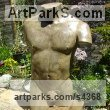 Concrete Classical Style Sculptures and sculpture by sculptor David Corbett titled: 'Classical Male Torso (nude garden/Yard statues/sculptures)'