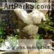 Stained and Polished Concrete Garden Or Yard / Outside and Outdoor sculpture by sculptor David Corbett titled: 'Classical Male Torso (life size Man`s Chest garden sculpture)' - Artwork View 4