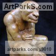Composite stone Fantasy sculpture or Statue sculpture by David Corbett titled: 'The Thoughtful Troll'