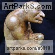 Composite stone Fantasy sculpture or sculpture by sculptor David Corbett titled: 'The Thoughtful Troll' - Artwork View 3