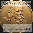 Wall Mounted or Wall Hanging sculpture by sculptor David Cornell titled: 'Churchill 2' - Artwork View 1