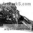 BRONZE Dogs sculpture by sculptor David Cornell titled: 'IRISH WOLFHOUND-BEOWULF' - Artwork View 2