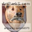 "Papier Mache Busts and Heads sculpture statue statuettes Commissions Bespoke Custom Portrait Memorial Commemorative sculpture or statue by David Farrer titled: ""Grizzly Bear and Salmon (Trophy Wall Mounted Animal Head/Mask sculpture)"""