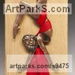 Bronze, Silk, Oak. Bas Reliefs or Low Reliefs sculpture by David G Smith titled: 'AIRELIA (Small Suspended nude Exotic Dancer sculpture)'