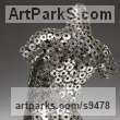 Stainles Steel, Acrylic. Females Women Girls Ladies sculpture statuettes figurines sculpture by sculptor David G Smith titled: 'TORSO LATTICE (stainless Steel Girl`s Torso sculpture)' - Artwork View 2