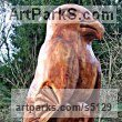 Western Red Cedar Birds of Prey / Raptors sculpture by sculptor David Gross titled: 'Kite Totem (Big Carved Wood Outsize Bird of Prey sculpture/statue/Foca)'
