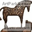 Bronze Horses Abstract / Semi Abstract / Stylised / Contemporary / Modern Statues Sculptures statuettes sculpture by David Mayne titled: 'Chariot (Little Bronze Contemporary Horse statuettes)'