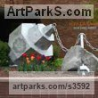 Limeston, aluminum, lexan with light Garden Or Yard / Outside and Outdoor sculpture by artist Deedee Morrison titled: 'April Charms' - Artwork View 1