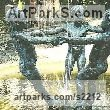Bronze Resin Females Women Girls Ladies sculpture statuettes figurines sculpture by sculptor Diana Whelan titled: 'Girl`s round the fountain'