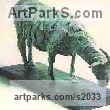 Bronze Resin Animals in General sculpture sculpture by sculptor Diana Whelan titled: 'Goat'