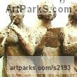 Bronze Resin Females Women Girls Ladies sculpture statuettes figurines sculpture by sculptor Diana Whelan titled: 'Musicians'
