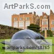 Bronze Garden Or Yard / Outside and Outdoor sculpture by sculptor Dido Crosby titled: 'Black Sow (Resting Lying Sleeping Mother Pig statues)' - Artwork View 5