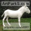 Bronze or GRP Domestic Animal sculpture by sculptor Dido Crosby titled: 'White Donkey (life size Standing sculpture)'