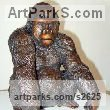 Bronze Primate / Apes sculpture by Dorothy Cameron titled: 'Gorilla (Small Bronze seated Gorilla statues)'
