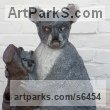 Bronze resin Australian and New Zealand Wild Life sculpture by sculptor Dreene Cotton titled: 'KYLIE the KOALA (Bronze resin bear and Cub statue/sculptures for sale)'