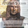 Bronze resin Portrait Sculptures / Commission or Bespoke or Customised sculpture by artist Dreene Cotton titled: 'The Boy from Liverpool (bronze resin John Lennon Beatle Inside Bust)' - Artwork View 1