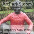 Bronze Resin Children Child Babies Infants Toddlers Kids sculpture statuettes figurines sculpture by sculptor Dreene Cotton titled: 'Thomas a substitute Again (bronze resin Boy Footballer sculpture/statue)'
