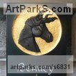 Delabole slate Pet and Animal Portrait Custom or Bespoke or Commission Commemorative or Memoriaql sculpture sculpture by sculptor Duncan Park titled: 'Horse portrait relief sculpture'