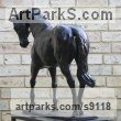 Bronze Horse and Rider / Jockey Sculpture / Equestrian sculpture by sculptor Edward Waites titled: '1/3 life-size colt'